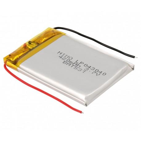 BATERIA Li-Po NIMO 3,7V - 450mAh RECARGABLE - 30x40x4mm - CON CONECTOR 2 PIN