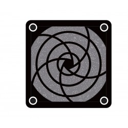 REJILLA PARA VENTILADOR 80x80 PLASTICO + FILTRO