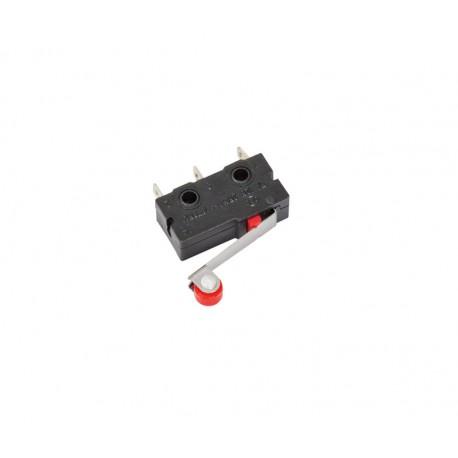 MICRORRUPTOR 250VCA - 3A - PALANCA RUEDA 20mm - 19,8x10,2x6,4mm