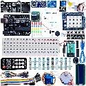 KIT DE INICIACION ARDUINO UNO R3 - GUIAS ESPAÑOL - RELES, SERVOS, FUENTES, SHIELD, DISPLAY ETC