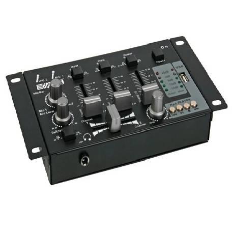 MESA DE MEZCLAS - 2 CANALES + ENTRADA USB MP3