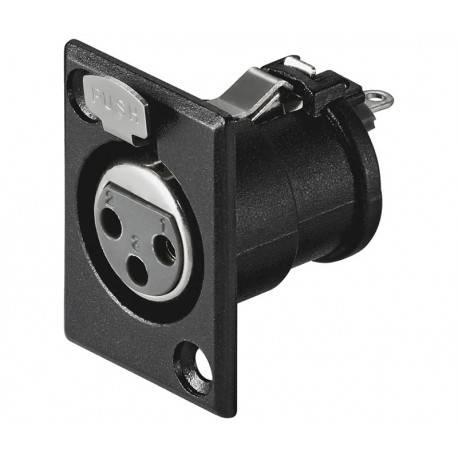 CONECTOR XLR - CANON HEMBRA CHASIS 3 PIN