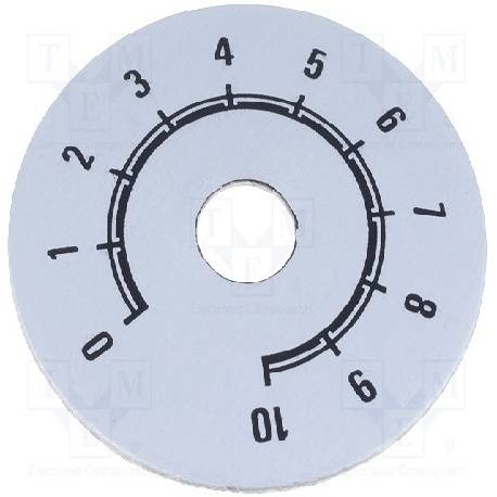 ESCALA METALICA [ALUMINIO] - DE 0 A 10 - DIAMETRO EXT. 50mm - ORIFICIO INTERIOR 10mm